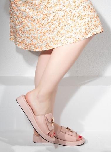 Nemesis Shoes Nemesis Shoes Gerçek Deri Kadın Terlik Pembe